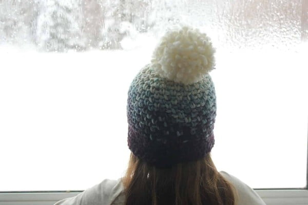 {DIY} Ombre PomPom Toque #crochet #crochetpattern #DIY #craft