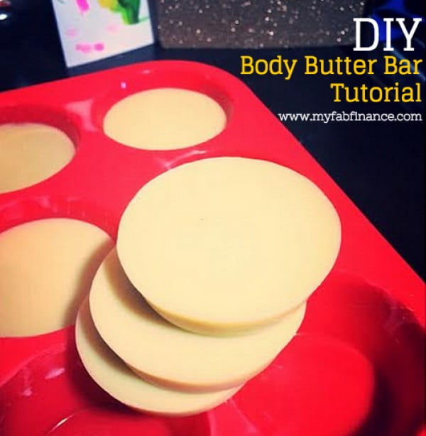 DIY Body Butter Bar: Great for Eczema & Dry Skin #DIY #beauty #craft #bodybutter
