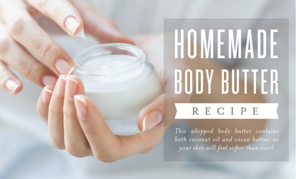 Homemade Body Butter Recipe #DIY #beauty #craft #bodybutter