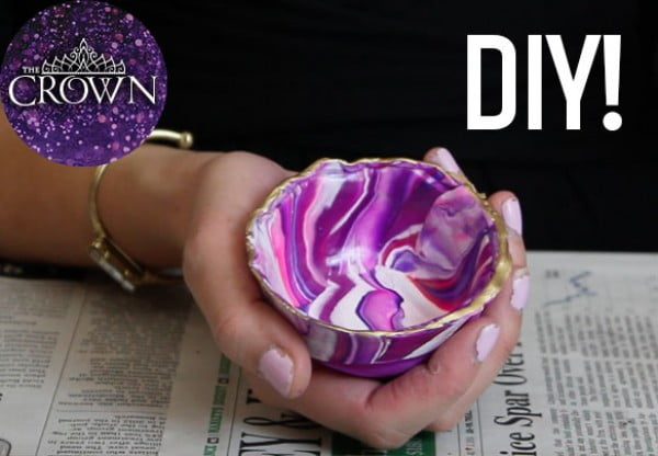 How to Make a Clay Ring Dish Inspired by The Crown #DIY #clay #dish #trinket