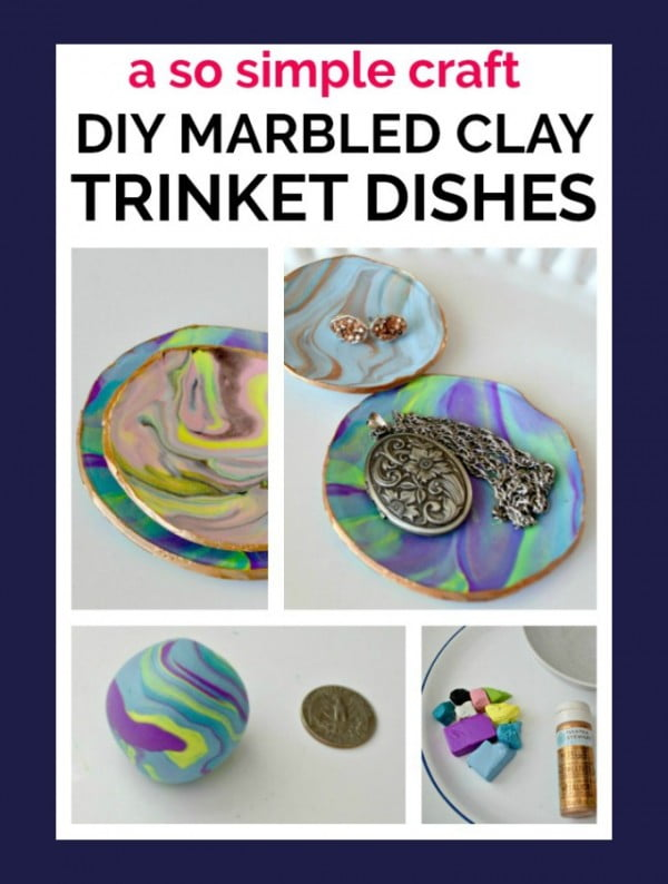 copy craft marbled clay dish #DIY #clay #dish #trinket