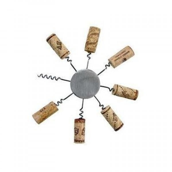 Sunburst Wine Cork DIY Trivet #DIY #craft #winecork