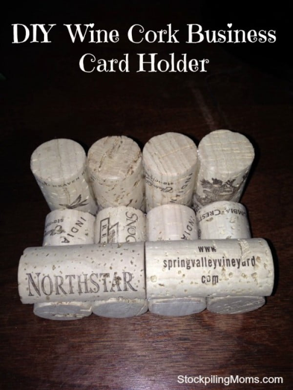 DIY Wine Cork Business Card Holder #DIY #craft #winecork