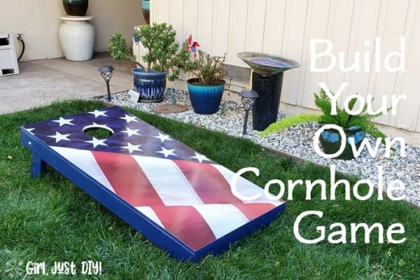 DIY Cornhole Board with Available Planns