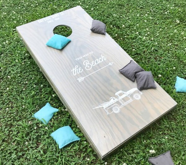 How to Make Your Own Custom Cornhole Boards *the easy way!*