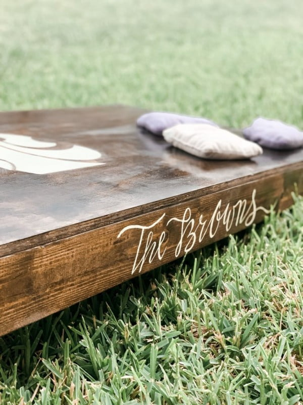 Custom DIY Cornhole Boards
