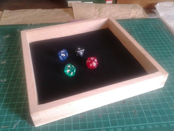 DIY dice tray