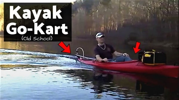 Kayak Go-Kart / My Old School DIY Kayak Motor Build!