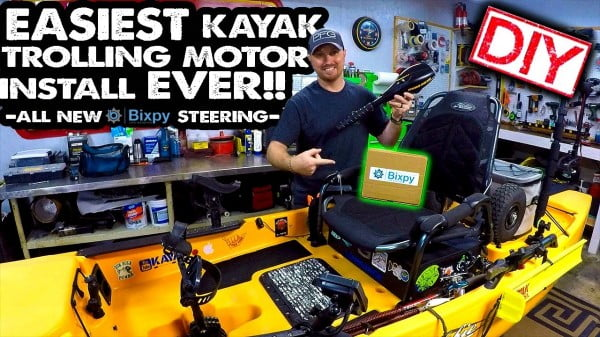 BEST DIY Kayak Trolling Motor Mod EVER!!