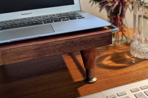 DIY Laptop Stand from a Butcher Block Cutting Board
