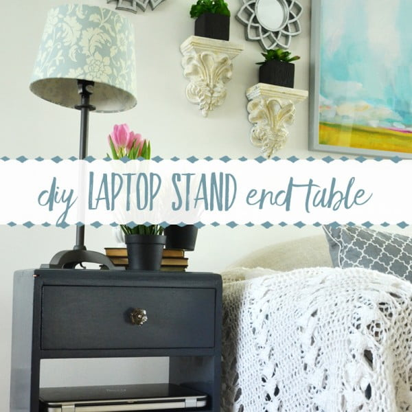 DIY Laptop Stand End Table