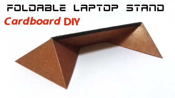 How to make Foldable Laptop Stand (light and portable) with Cardboard.
