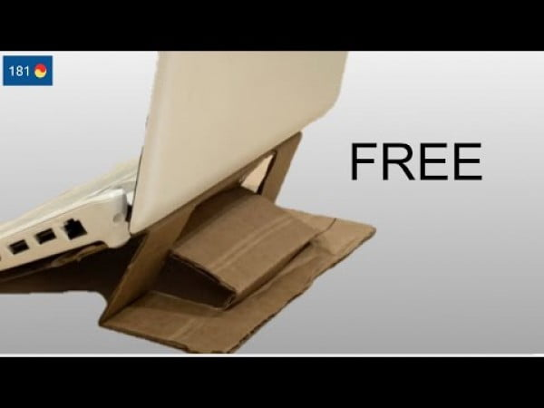 Free LAPTOP kickstand DIY (super easy)