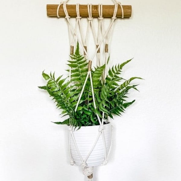 Easy DIY Macrame Plant Hanger Wall Hanging Tutorial