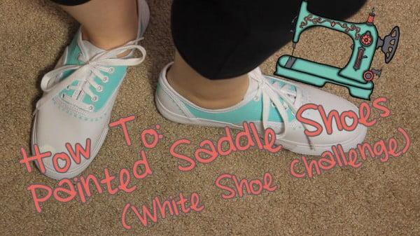 DIY Painted Saddle Shoes