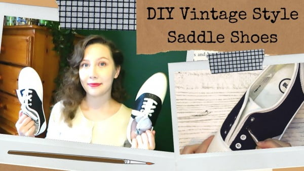 Easy DIY Vintage Style Saddle Shoes/Bowling Shoes