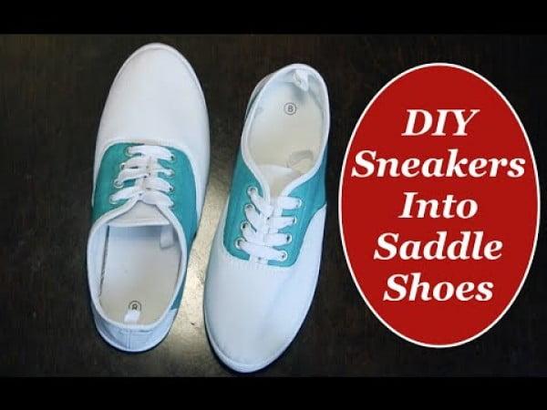 DIY Sneakers into Saddle Shoes The Rachel Dixon Tutorial Vintage Retro Rockabilly
