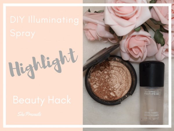 DIY Illuminating Spray Beauty Hack: Using Broken Highlighter for a Cover FX Dupe!