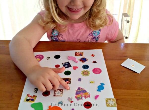 DIY Sticker Seek and Find Game