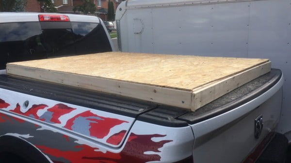 DIY homemade Tonneau cover for Rambox