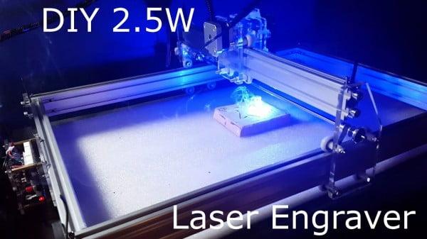 Inexpensive Home DIY 2.5W Laser Engraver